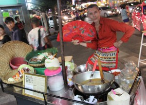 Farang Street Vendor, Thai Street Food Backpackers Favourite Snacks in Thailand