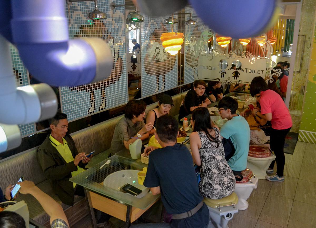 Tables Inside Modern Toilet Taipei Famous Toilet Restaurant Taiwan