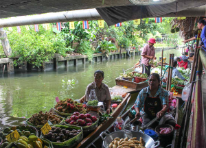 Klong Lad Mayom Floating Market in Bangkok Thailand