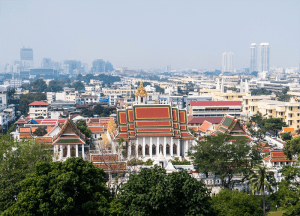 Views from Wat Saket Golden Mount Things to do in Bangkok Thailand