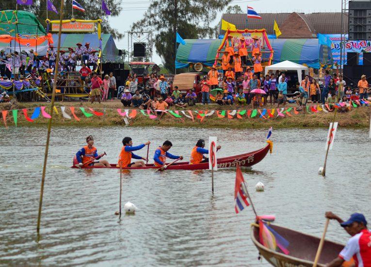 Annual Boat Festival in Nang Rong Buriram Songkran Festival in Thailand