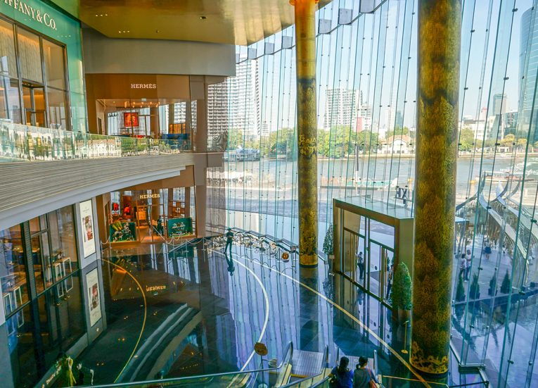 Inside Iconsiam Megamall Chao Phraya River in Bangkok Thailand