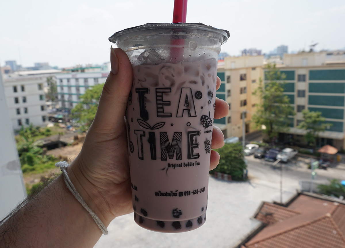 Taiwanese Bubble Tea Bangkok Street Food in Thailand