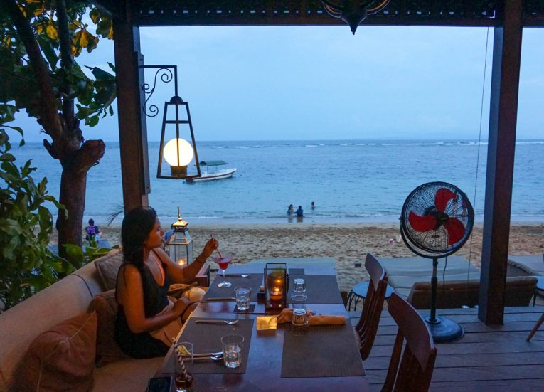 Beach Views from the Kayumanis Seaside Sanur Beach Restaurant