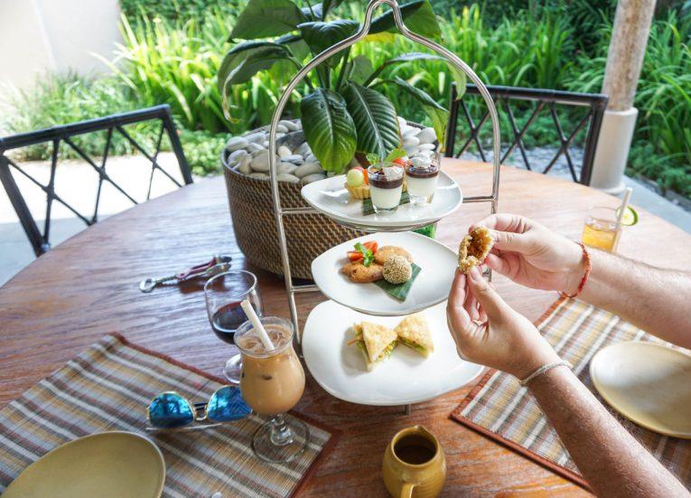 High Tea Cakes and Coffee Private Pool Villas at Kayumanis Sanur Luxury Resort in Bali