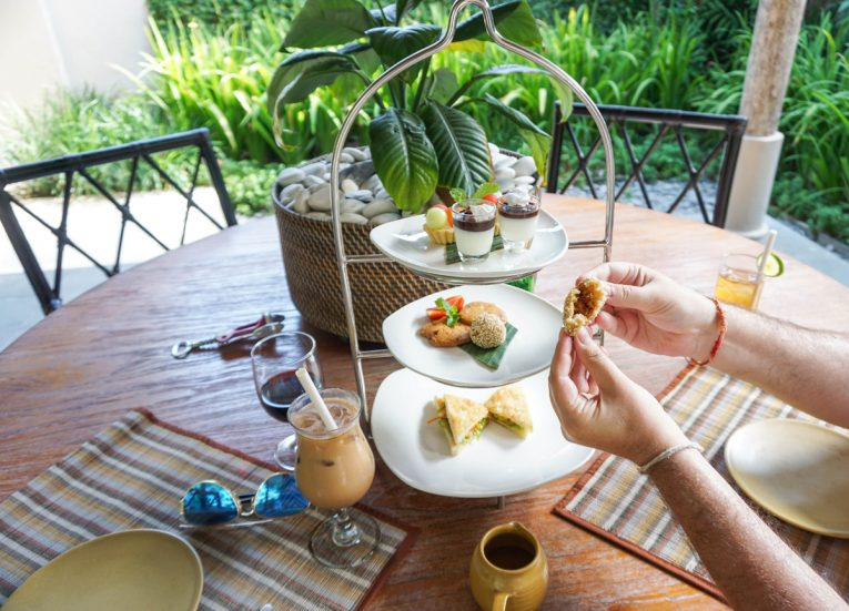 High Tea Cakes and Coffee Private Pool Villas at Kayumanis Sanur Luxury Resort in Bali