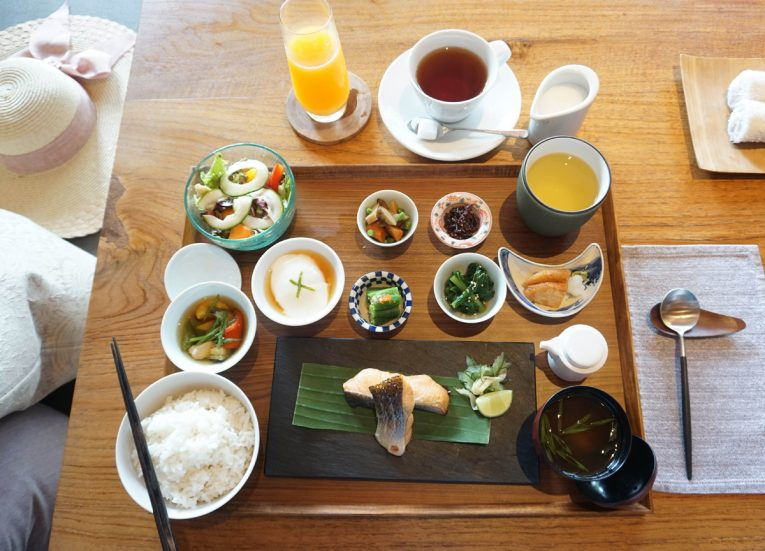 Japanese Breakfast at Luxury Pool Villas at HOSHINOYA Bali Ubud Resort