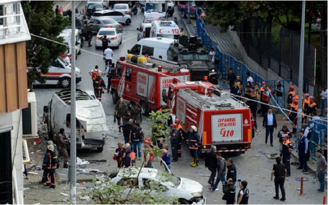 LLL - Live and Let Live - ISIS 'motorbike bomb' exploded near a police station in southwest Istanbul wounding ten people