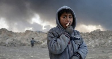 LLL-Live Let Live-Black smoke and toxic pollutants choke children in ISIS regions