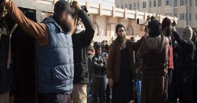 LLL-Live Let Live-Two men are publicly cricified by ISIS barbaians for trying to bring tobacco into Mosul