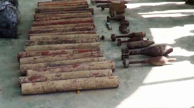 LLL-Live Let Live-Large weapons and explosives cache of ISIS seized by Afghan security forces in Kabul