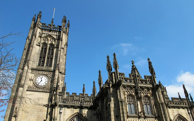image of Manchester Cathedral home of many Manchester live events