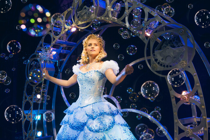 Manchester Theatre: Helen Woolf stars as Glinda in Wicked, returning to Manchester's Palace Theatre - image courtesy Matt Crockett