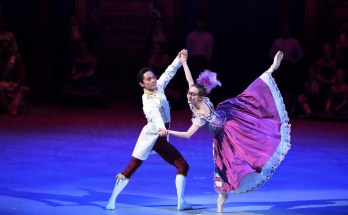 Katja Khaniukova and Jeffrey Cirio in Cinderella-in-the-round image courtesy Laurent Liotardo