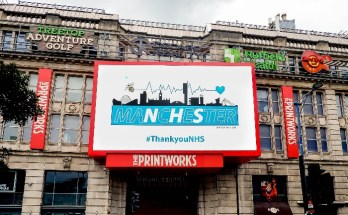 Printworks - thank you NHS