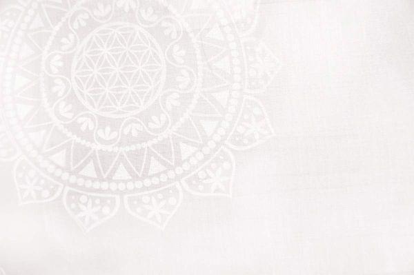Gardine 'Mira' weiß bedruckt 145cm breit x 225cm hoch