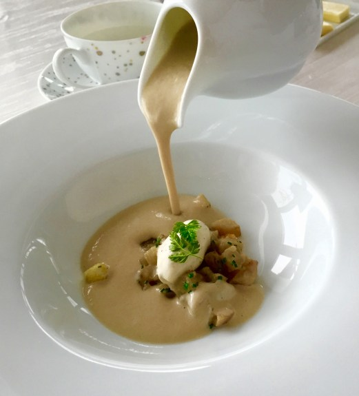 Sky on 57 lunch review artichoke veloute