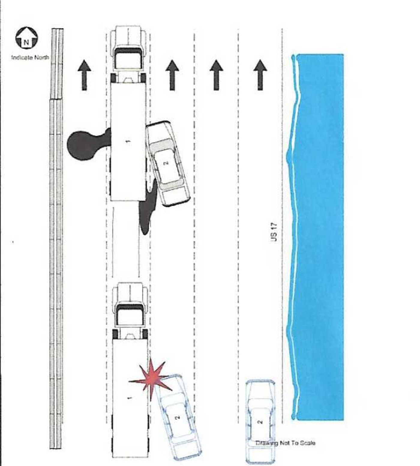 hight resolution of diagram of the accident from the traffic report