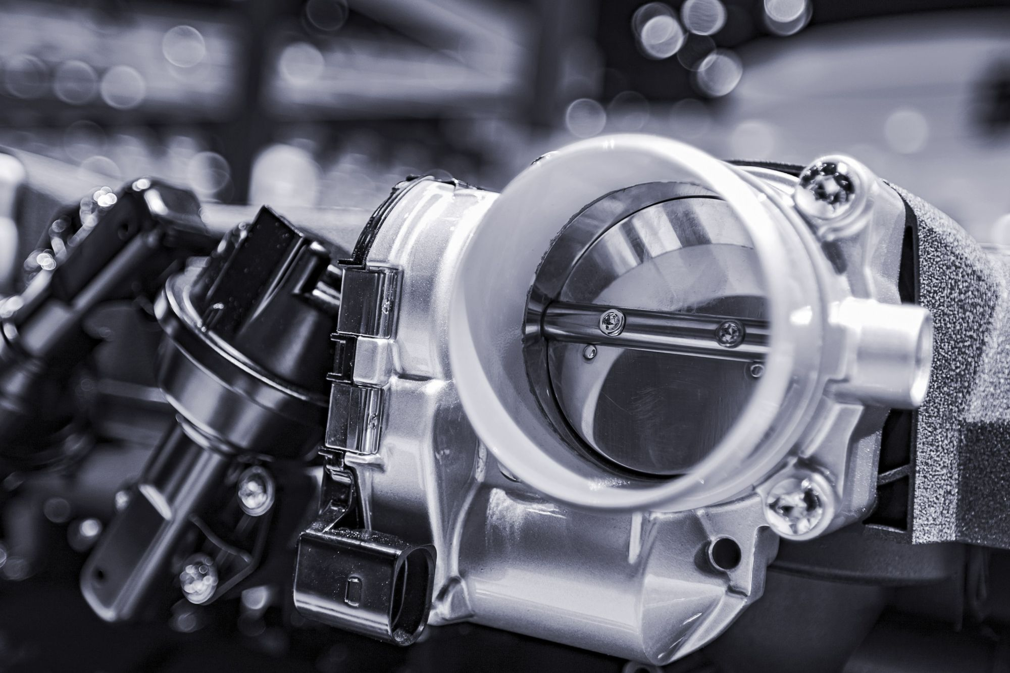 hight resolution of a modern electronic throttle body