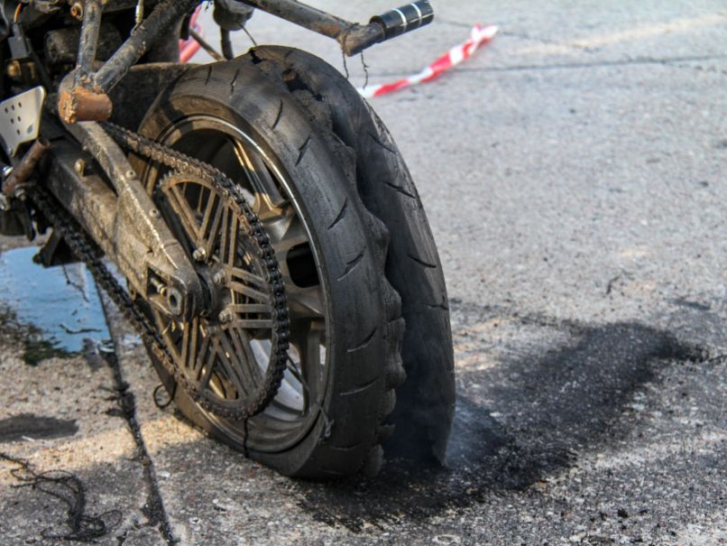 How To Repair A Motorcycle Flat Tire