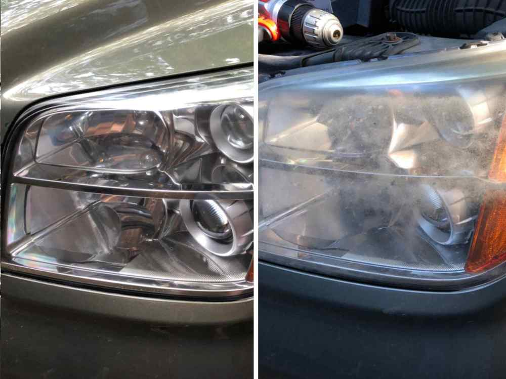medium resolution of fogged headlight restoration