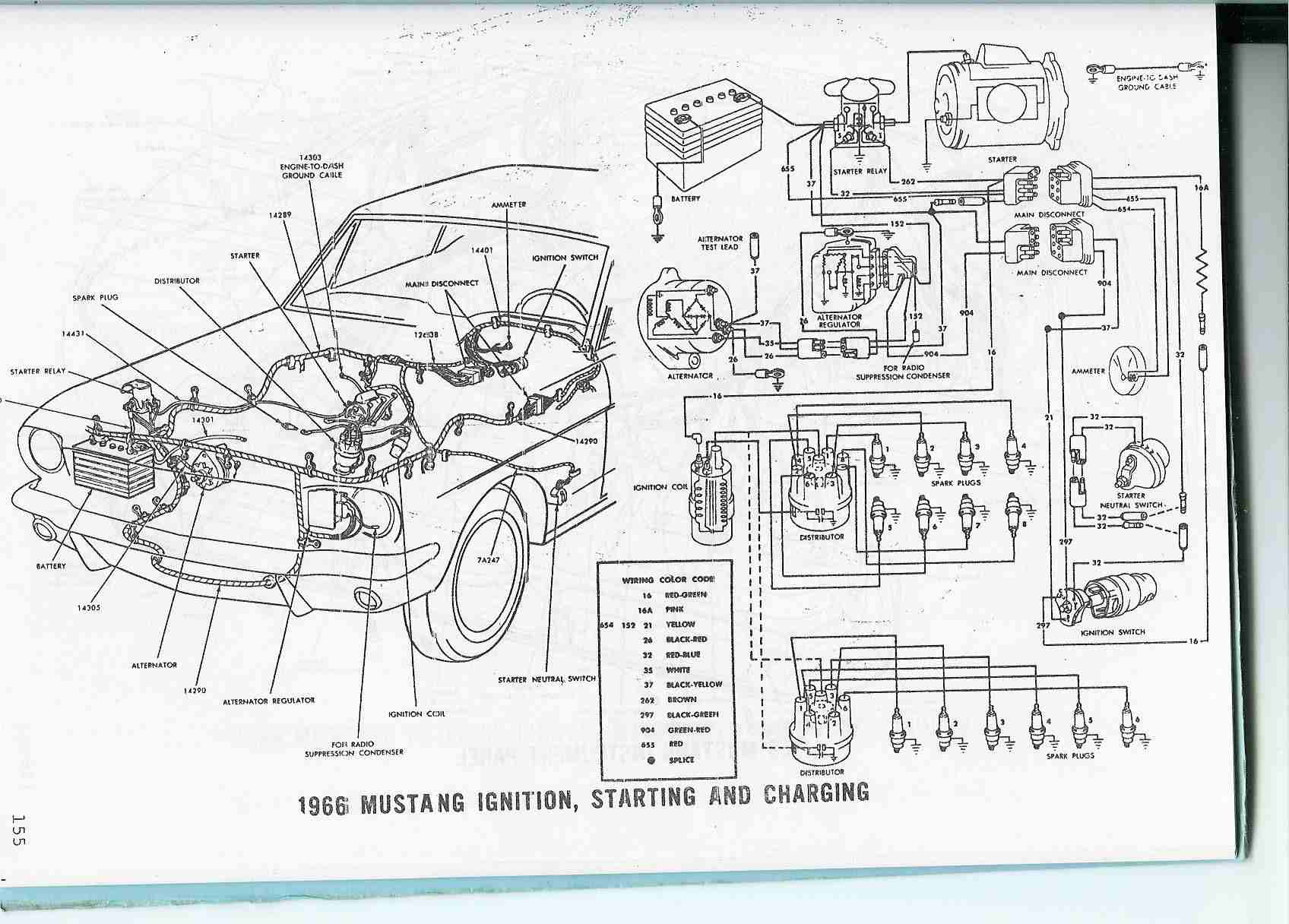 hight resolution of 1966 mustang electrical diagram