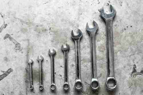 small resolution of open end wrenches