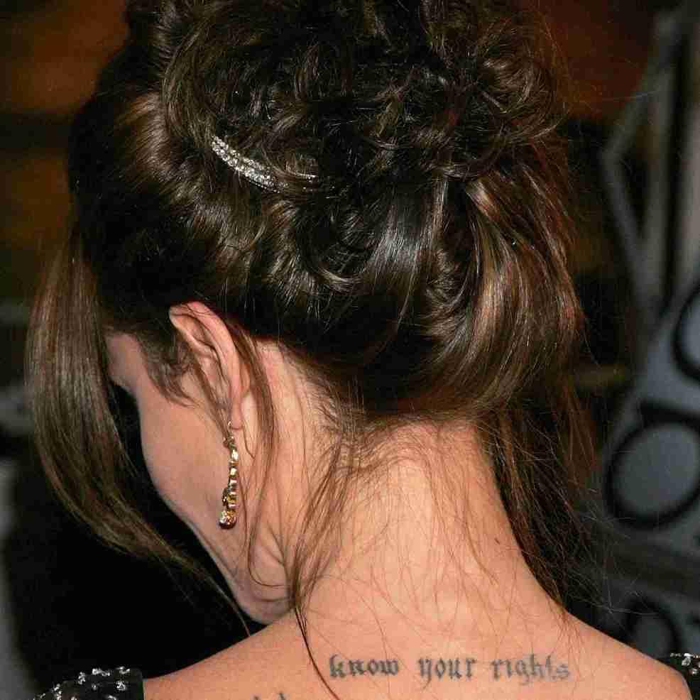 Meanings Of Angelina Jolies Many Tattoos