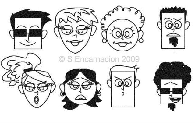 drawing cartoon faces with