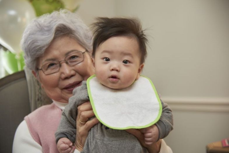 Image result for grandparents and child asian