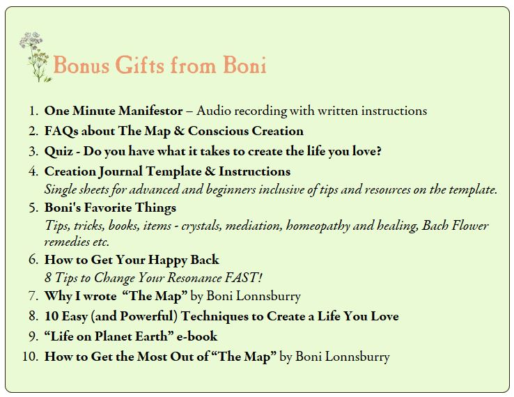 Bonus Gifts From Boni