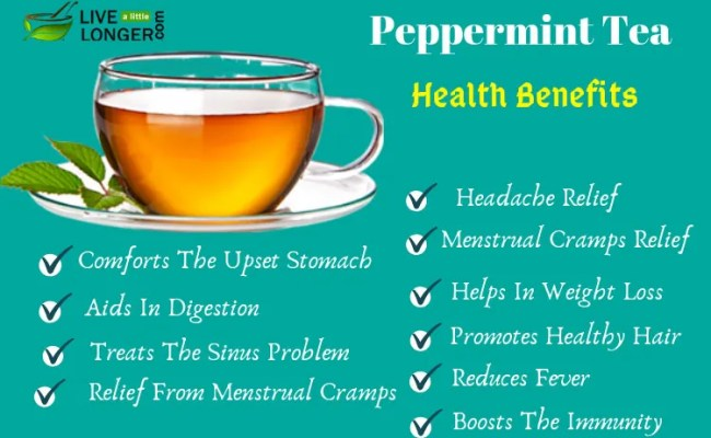 13 Health Benefits Of Drinking Peppermint Tea