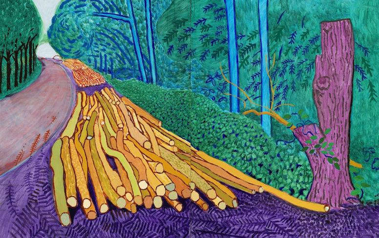 David Hockney Landscapes Adorn Van Gogh Museum