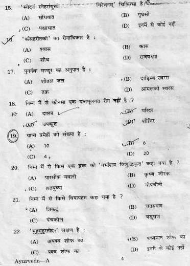 Previous Years Question Papers of PSC,Model Question Paper