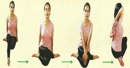 Gomukhasana-Steps