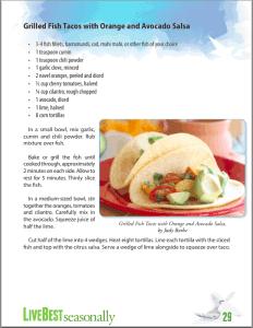LiveBest Seasonally p29 grilled fish tacos