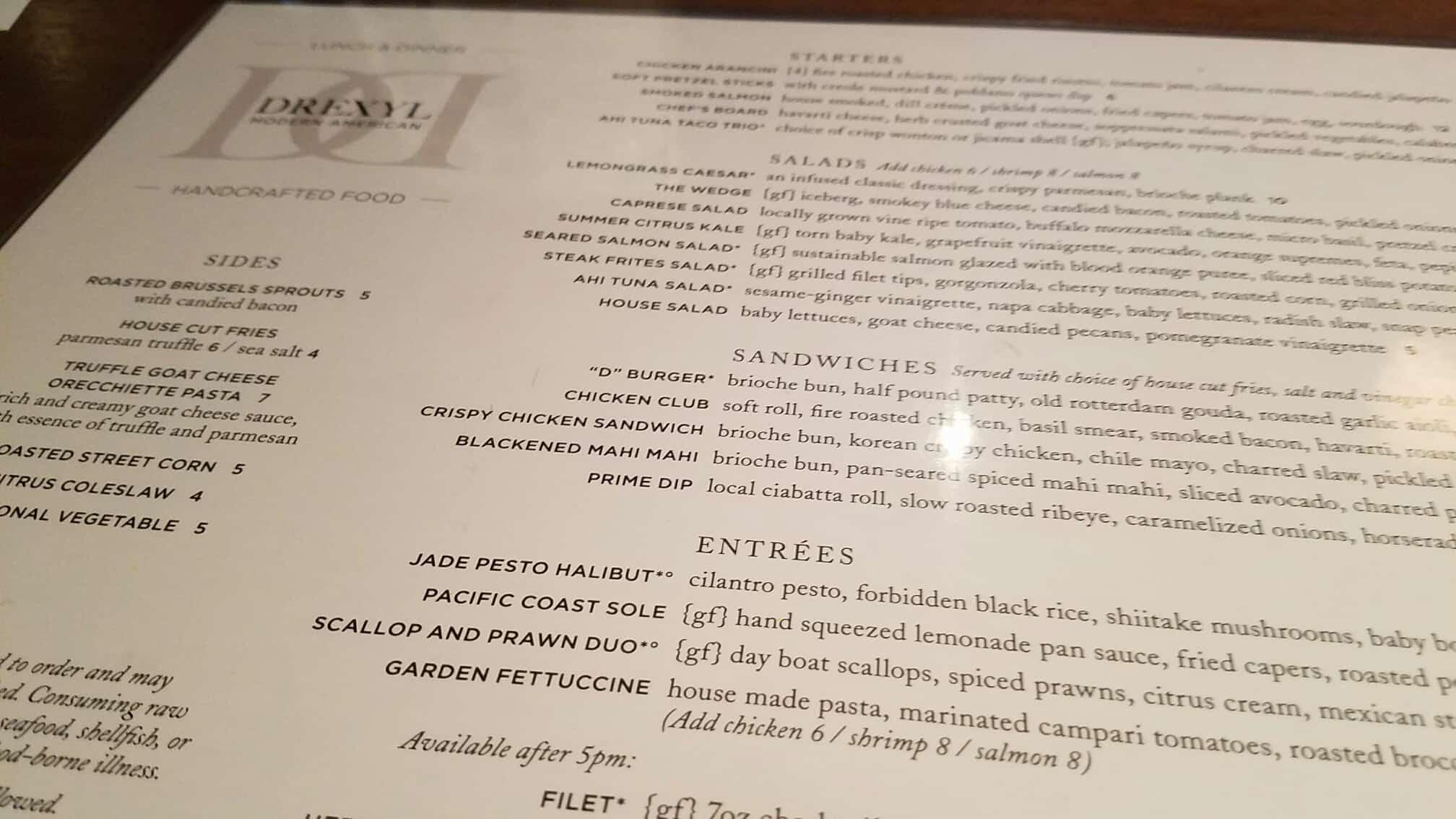 drexyl-scottsdale-menu