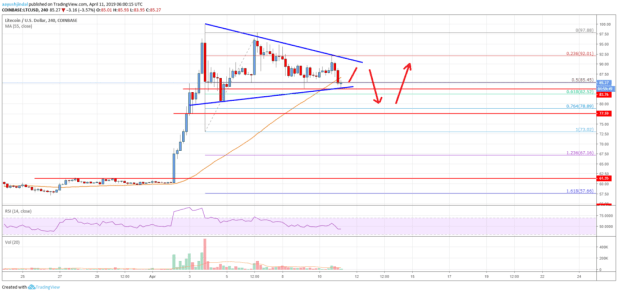 Litecoin (LTC) Price Could Revisit  Before Fresh Rise