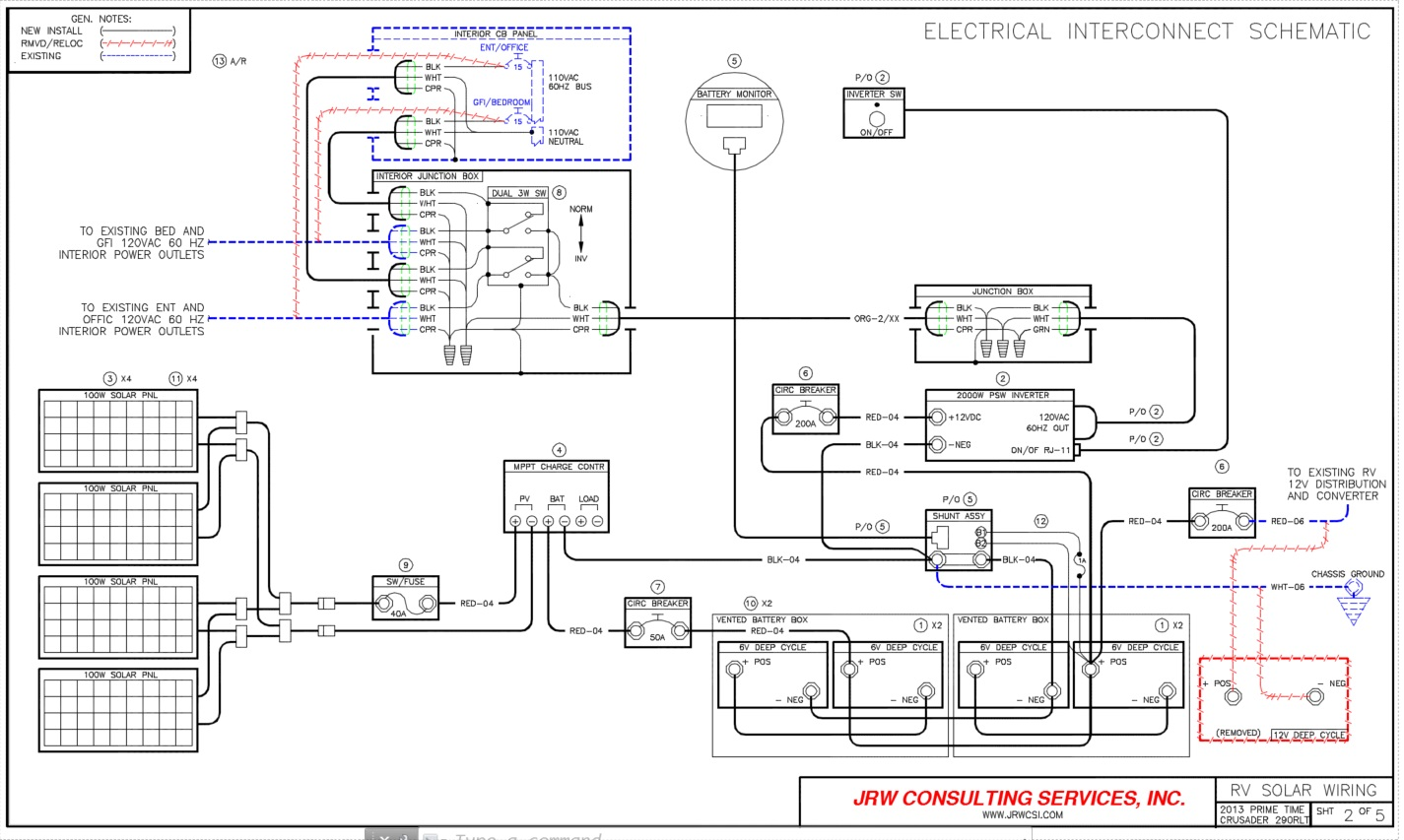 wiring diagram for solar battery charger creative venn rv power upgrade - live, breathe, move