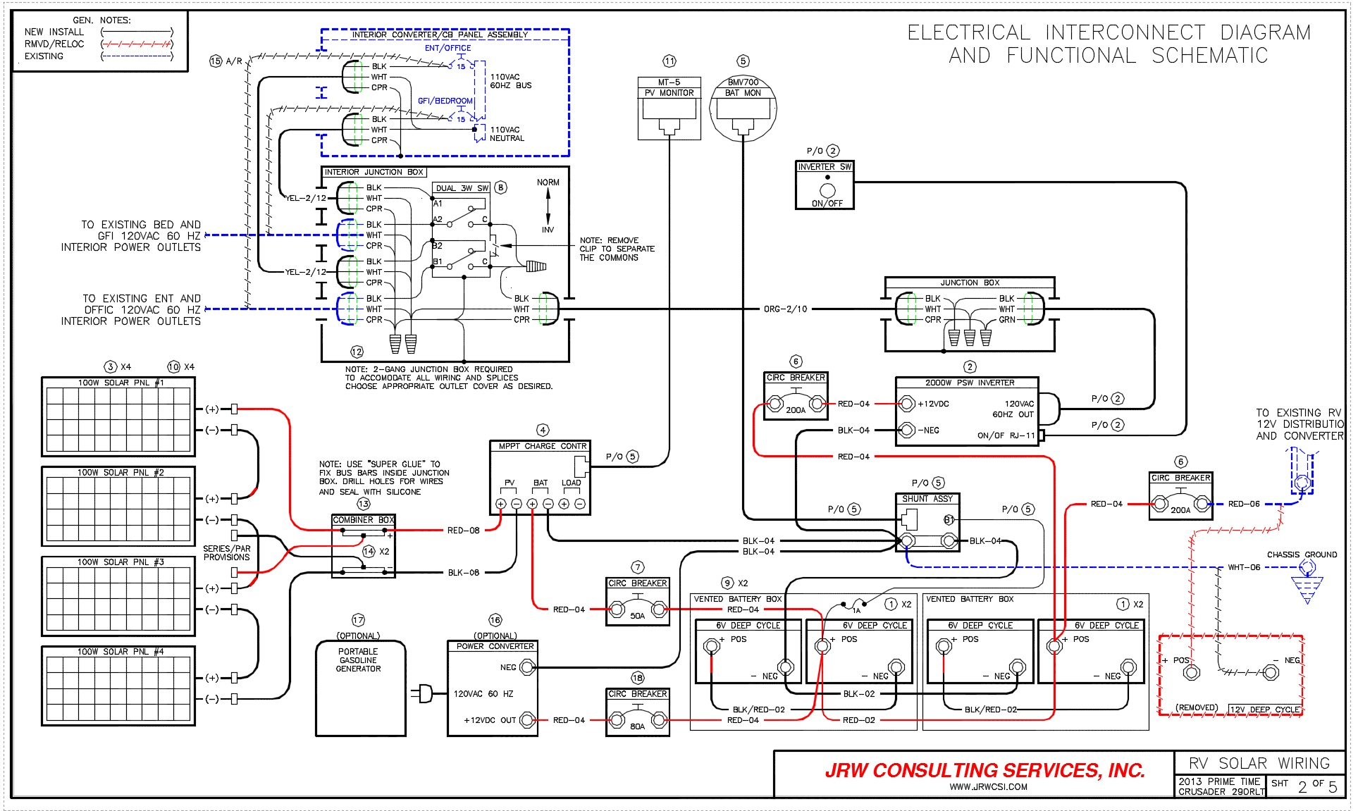 solar panel wiring diagram 2009 silverado rv power upgrade live breathe move