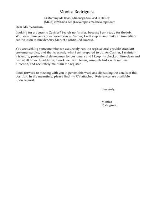 Cover Letter Templates & Examples