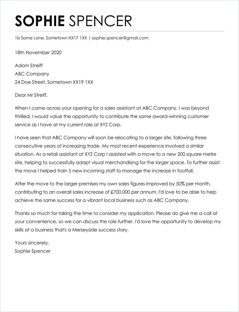 good tech cover letter