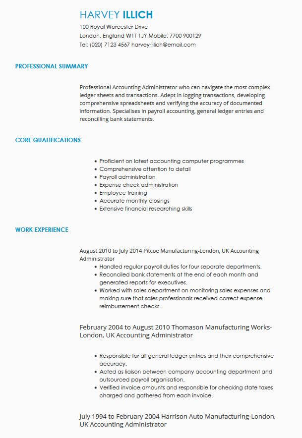 CV Samples CV Templates By Industry LiveCareer