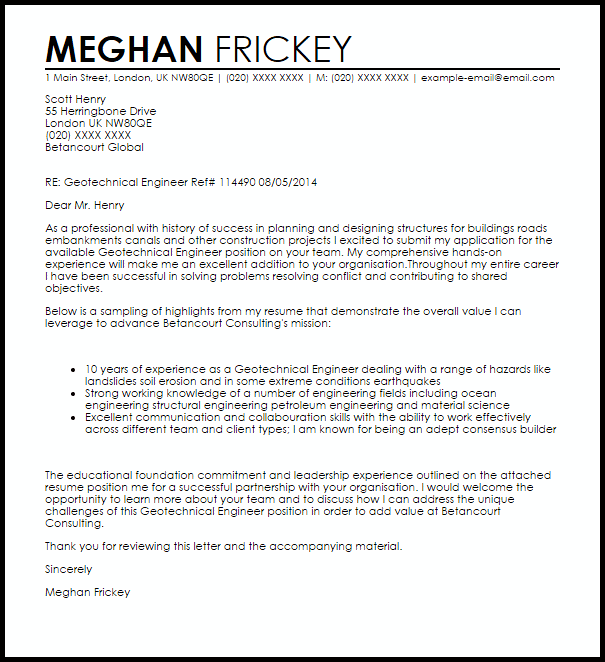 engineering cover letter examples uk