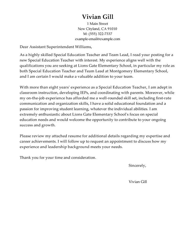 Cover Letter Lead Web Developer