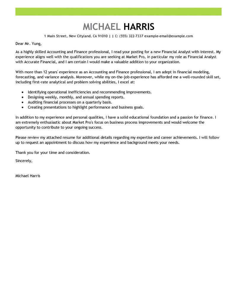 Cover Letter For It Jobs Examples