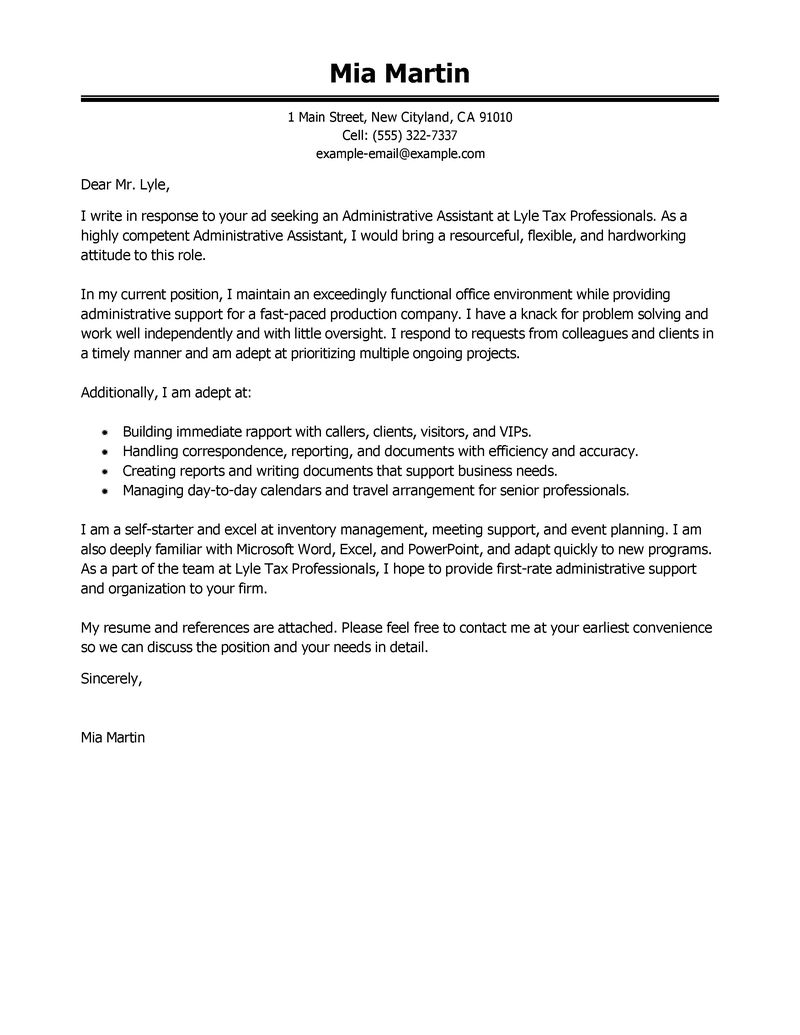 100 Examples For Cover Letter For Resume Cover Letter Email E