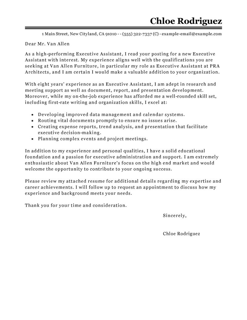 Cover Letter Examples Administrative Support | Free Resume ...