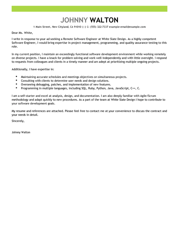 Cover Letter Samples Software Developer | Sample Customer ...