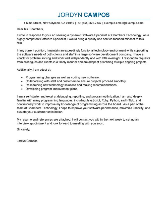 Teaching Lication Cover Letter